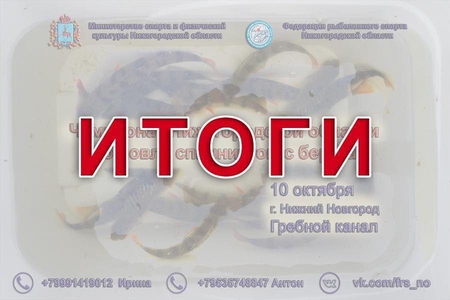 Итоги Чемпионата Нижегородской области по ловле спиннингом с берега